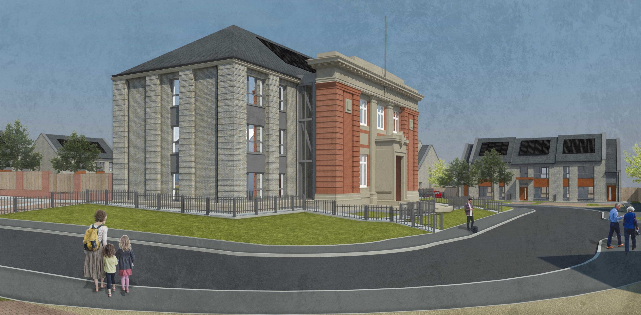 Linthouse Housing Association designs by Grant Murray Architects