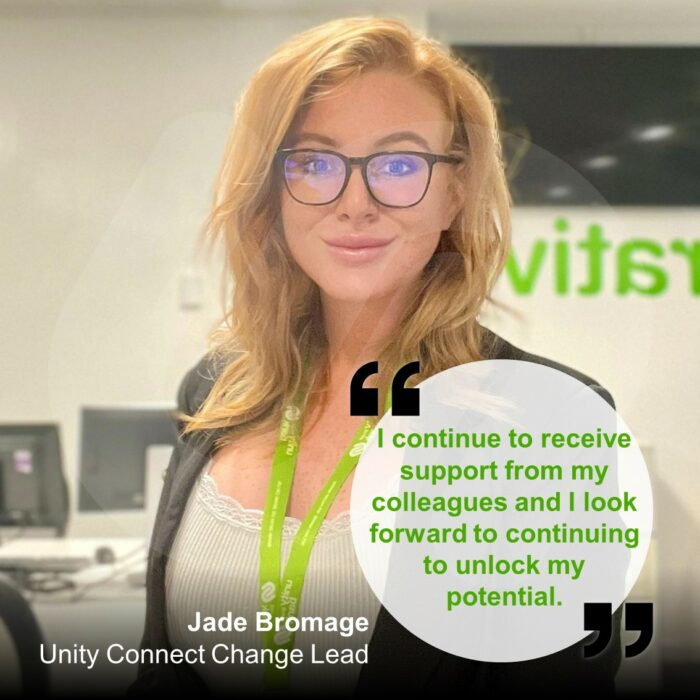 Jade Bromage - Unity Connect Change Lead